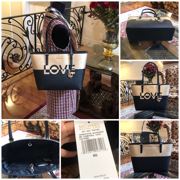 6429d9dcc6a1c Michael Kors jet set travel carry all Love Tote